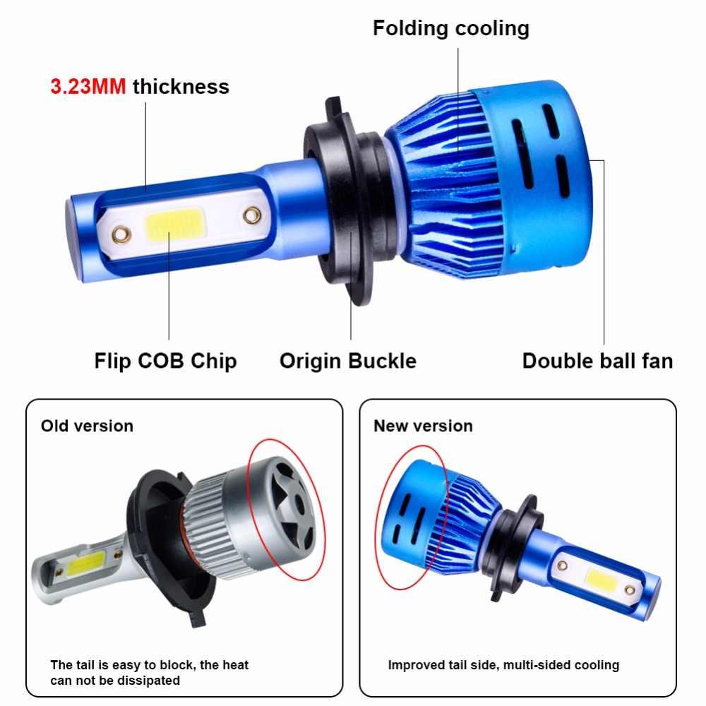 Foxcncar LED ampoule Feu de brouillard H7 H1 H11 9005 9006 fog light auto lamp 4300K COB Chip faro moto Fendinebbia hb3 hb4 12V
