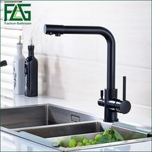 Продвижение Wholesale100 % меди поворотный круглый стиль мойки питьевой воды смеситель для кухни 3 Way фильтр для воды коснитесь