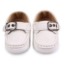 Fashional Кожа Пряжки Хлопка Единственным Ребенок Мальчик Повседневная Обувь Для 0-12 М