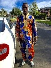 MD ensemble haut pantalon pour hommes 2 pièces, costume costume africain, vêtements africains, bazin, dashiki, chemise avec pantalon, 2020