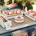 SIGMA high top resin wicker used hotel patio transformable sofa bed furniture