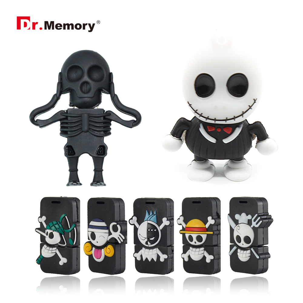 Funny USB Flash Drives Skull Skeleton Pendrives 32GB 4GB 8GB 16GB Pen Drive Personalized Memory Stick I Flashdisk Creative Gifts