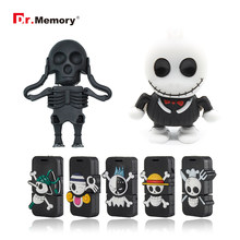 Funny USB Flash Drives Skull Skeleton Pendrives 32GB 4GB 8GB 16GB Pen Drive Personalized Memory Stick I Flashdisk Creative Gifts(China)