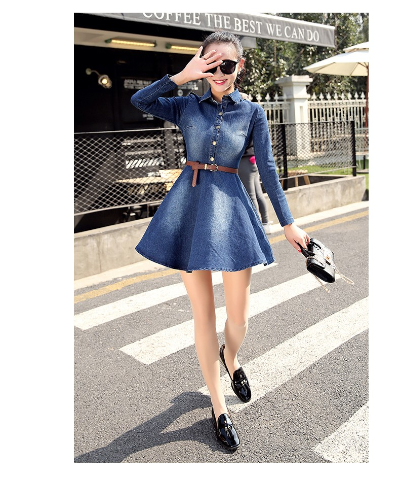 65646b6e60 Girl Spring Denim Blue Dress for Kids Women Jeans Dresses Tutu Cute ...