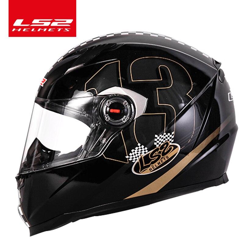 LS2 alex barros Plein Visage moto rcycle casque racing moto casques isigqoko capacete casque moto ECE approuvé aucun pompe FF358 casques