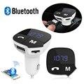 MP3 del coche Reproductor de Audio Bluetooth Transmisor FM Inalámbrico Modulador de FM Car Kit Manos Libres Display LCD USB Cargador Para todos los Teléfonos