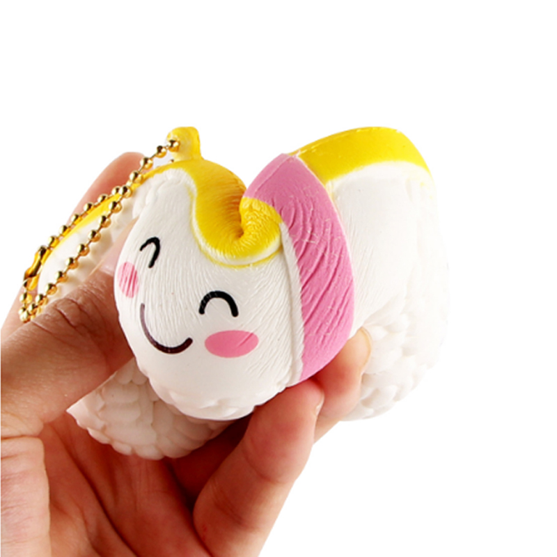 10cm Sushi Squishy Phone Straps Scented Slow Rising Soft Food Squeeze Kid Toys Decompression Toy Kids Fun Toy Birthday Gift