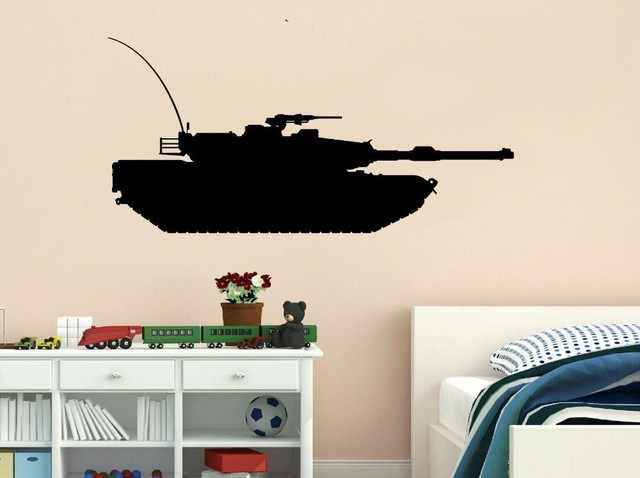 Creative Tank Vinyl Decal Military Army Tank Kid Room Decor Vinyl Wall Art  Sticker Bedroom Home