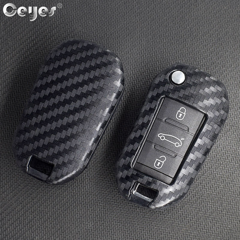 Ceyes Car Styling Protection Remote Smart <font><b>Key</b></font> Covers Case For <font><b>Peugeot</b></font> 3008 <font><b>208</b></font> 308 508 408 2008 307 4008 For Citroen C4 Shells image