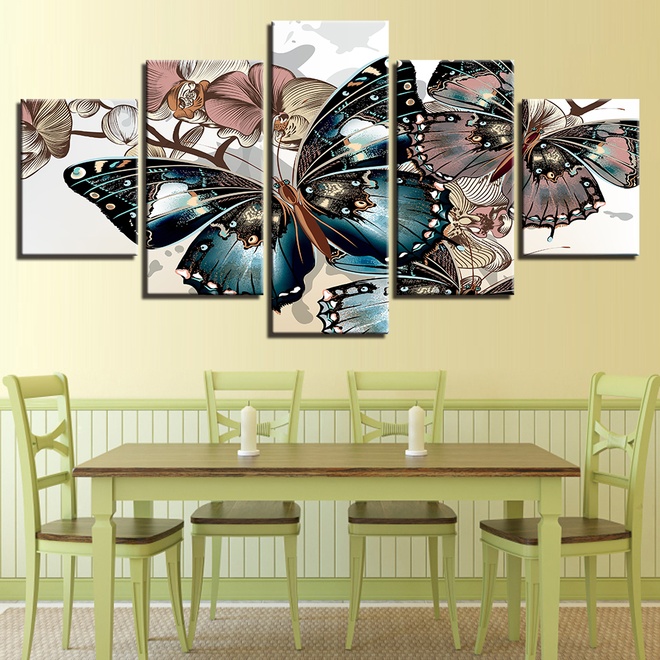 Canvas Paintings Framework HD Prints Wall Art Flower Pictures 5 ...