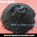 Высокопробное Черный Турмалин Порошок 2500 сетки Черный Прекрасно Отрицательных Ионов Турмалин Порошок