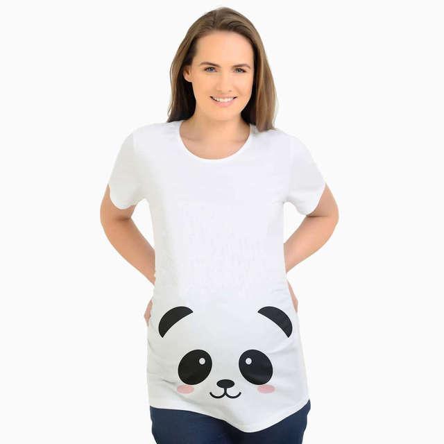 aef4e2c23cb62 Summer Funny Printing Panda Maternity Clothes Pregnant T shirts Women Short  Sleeve Maternity Top Pregnancy T Shirt Plus Size