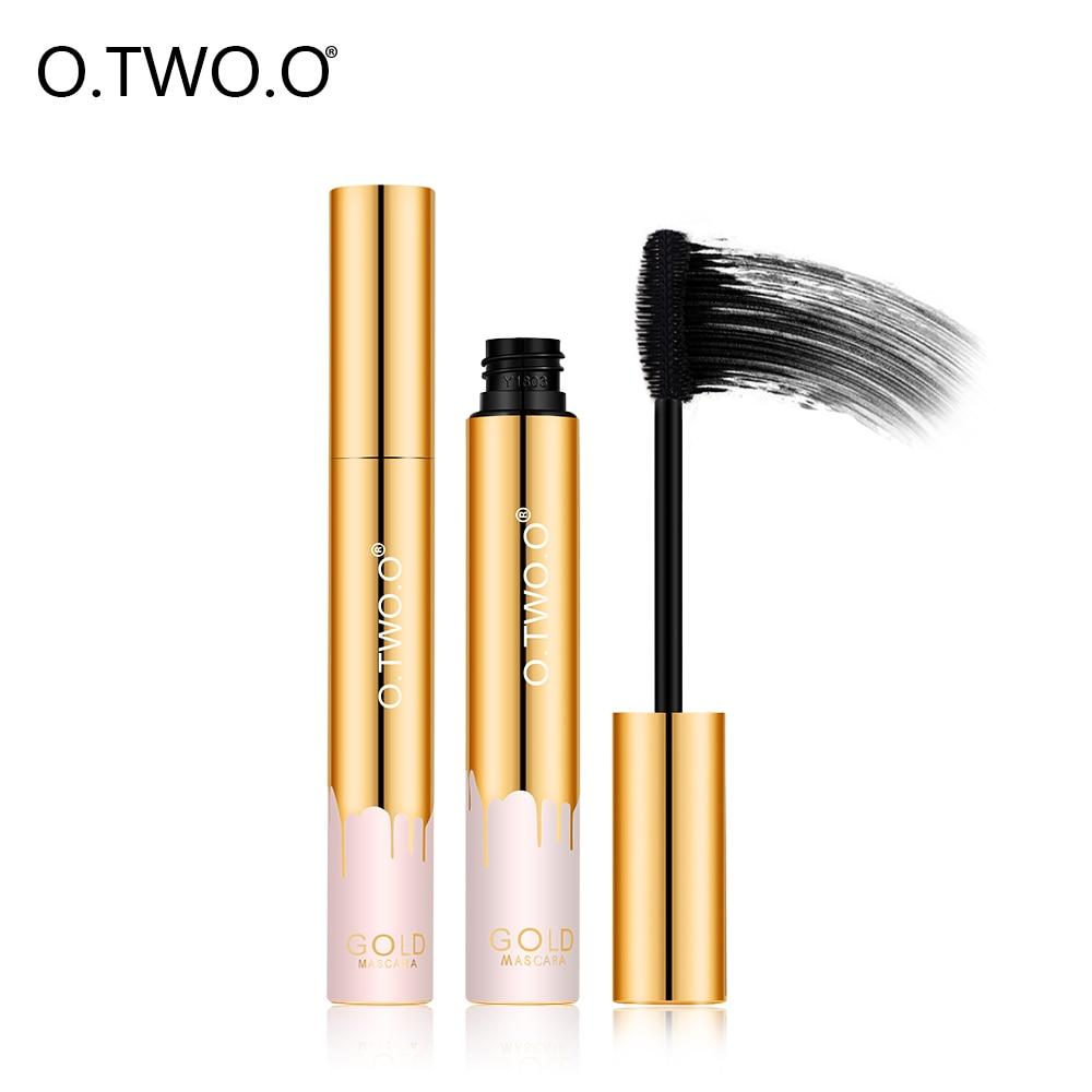 O.TWO.O Густая растягивающая тушь для ресниц Черная водостойкая антицветущая косметика для глаз Профессиональный макияж глаз