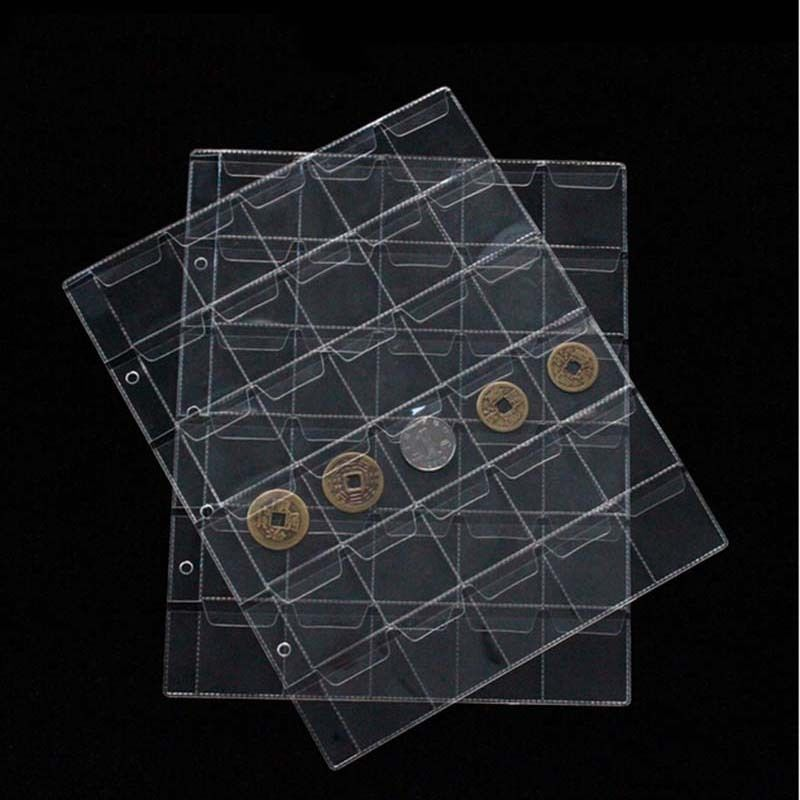 A4 Clear Page Protector Scrapbook Album memory coin ticket pocket insert keeper collector