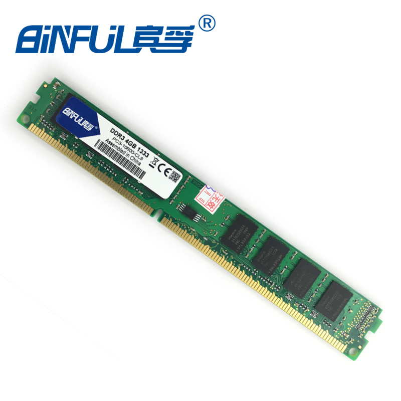 Home of computer memory Binful orignial New Brand DDR3 PC3-10600 4GB 1333mhz for Desktop RAM Memory 240pin compatible with Desktop for Intel and AMD