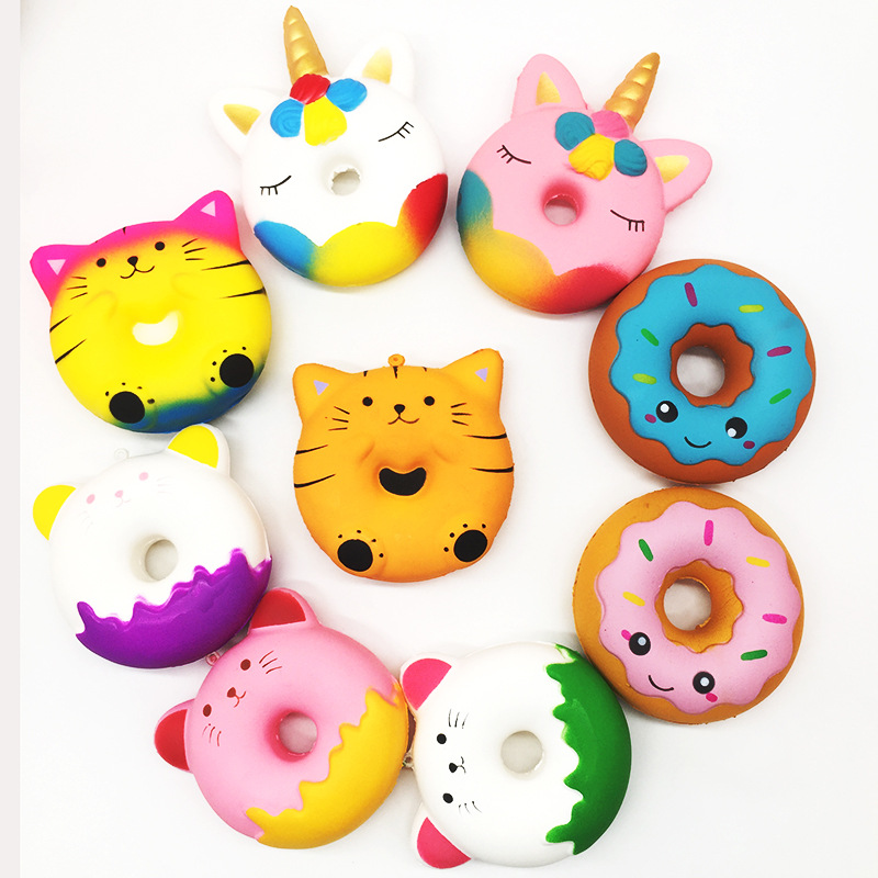 Big Donut Unicorn Jumbo Squishy Slow Rising Pink Unicorn Doughnut Squeeze Fun Toy For Children Antistress Toys