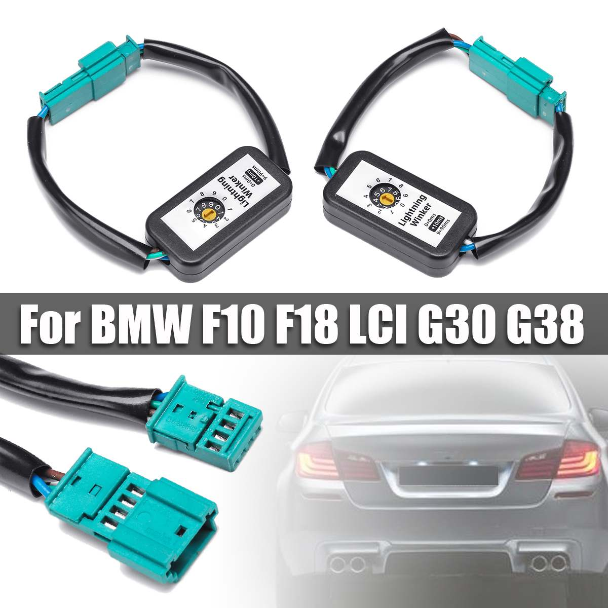 2PCS Dynamic Add-on Module Taillight Cable Wire For Turn Signal Indicator LED Taillight For BMW F10 F18 LCI G30 G38  2009-2016