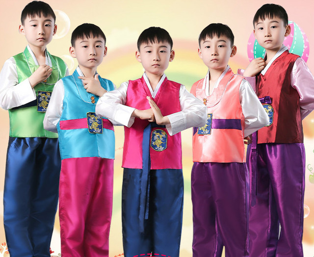 Aliexpress.com  Buy Boy Korean Costumes Wear Korean Traditional Clothes Korea Dance Ethnic ...