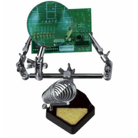 AUSD Third Hand Soldering Iron Stand Helping Clamp Vise Clip Tool Magnifying Glass Wholesale