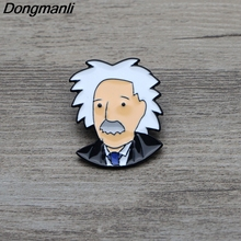 L3302 The Scientist Einstein Metal Enamel Pin for Backpack/Bag/Jeans Clothes Badge Lapel Pin Brooch Jewelry 1pcs l3401 yin yang wolf viking rune metal enamel pin for backpack bag jeans clothes badge lapel pin brooch jewelry 1pcs