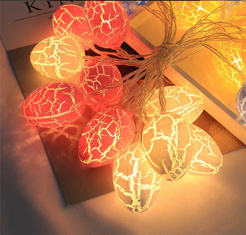 Светодиодный свет, свет шнура, Батарея работает красочные пасхальные СВЕТОДИОДНЫЙ Яйца огни Вечерние и Украшения в спальню