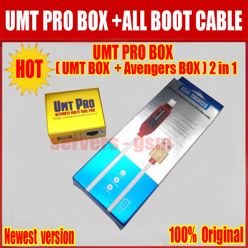 2019 Newest 100 Original UMT Pro BOX UMT Avengers 2in1 Box ALL Boot cable