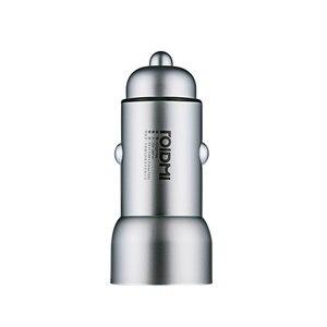 Image 2 - Roidmi Auto Ladegerät Metall Aussehen Dual USB 5V 3,6 A Ausgang Schnelle Ladegerät Adapter Für iPhone Und Android Samsung