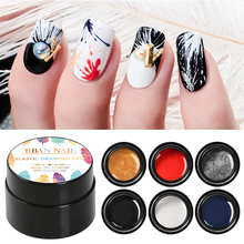 Glitter Spider Gel Polish Wire Elastic Drawing Painting UV Gel Polish Soak Off Pulling Silk Spider Shiny Nail Art Lacquer стоимость