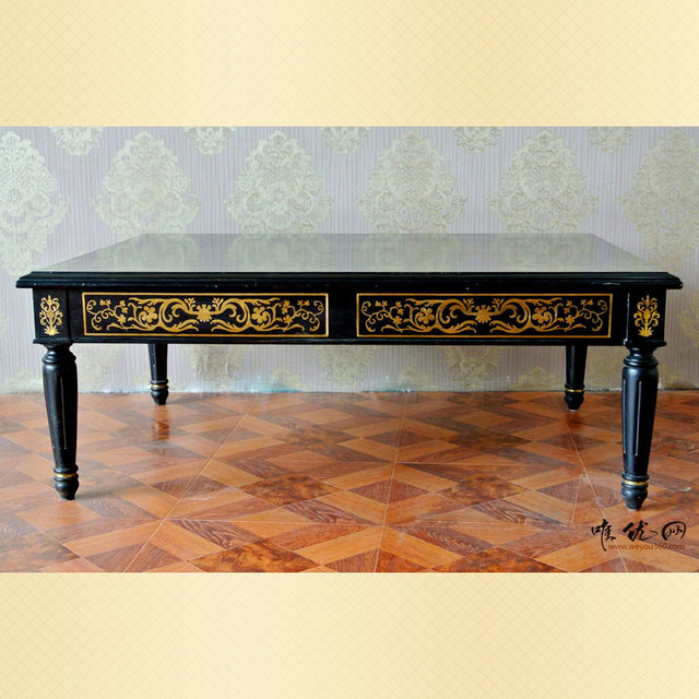 Continental Corner A Few Square Corners Hire Black Birch Wood Coffee Table  A Few French Side
