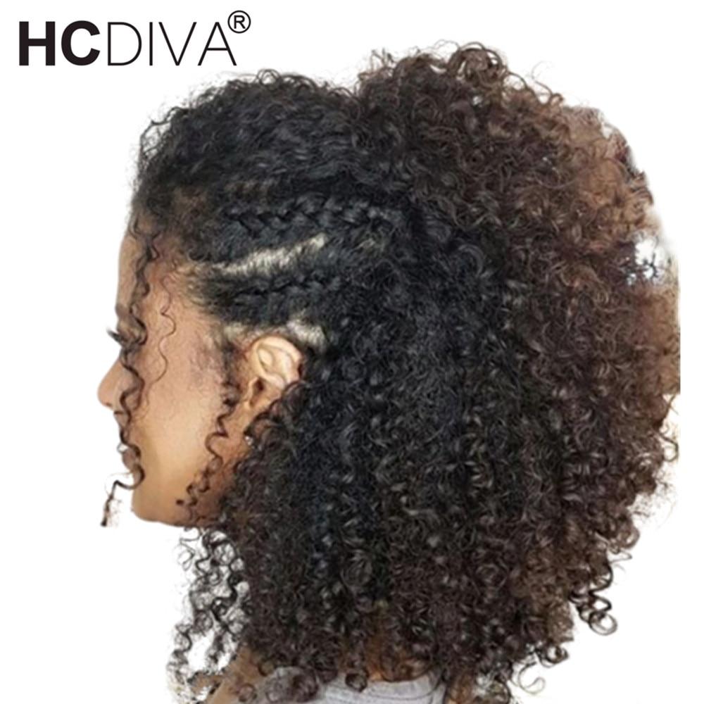 13*4 Синтетические волосы на кружеве натуральные волосы парики для Для женщин Малайзии афро кудрявый парик 150% Remy натуральные волосы парики п...