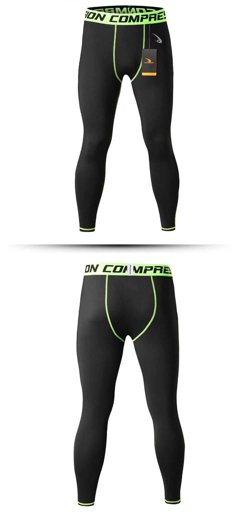 Men's Compression Pants Quick Dry Black Leggings