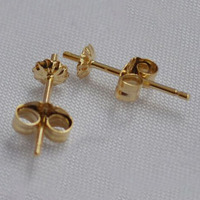 Wholesale 14K Yellow Gold Earring Pins With Post Sold By Pair