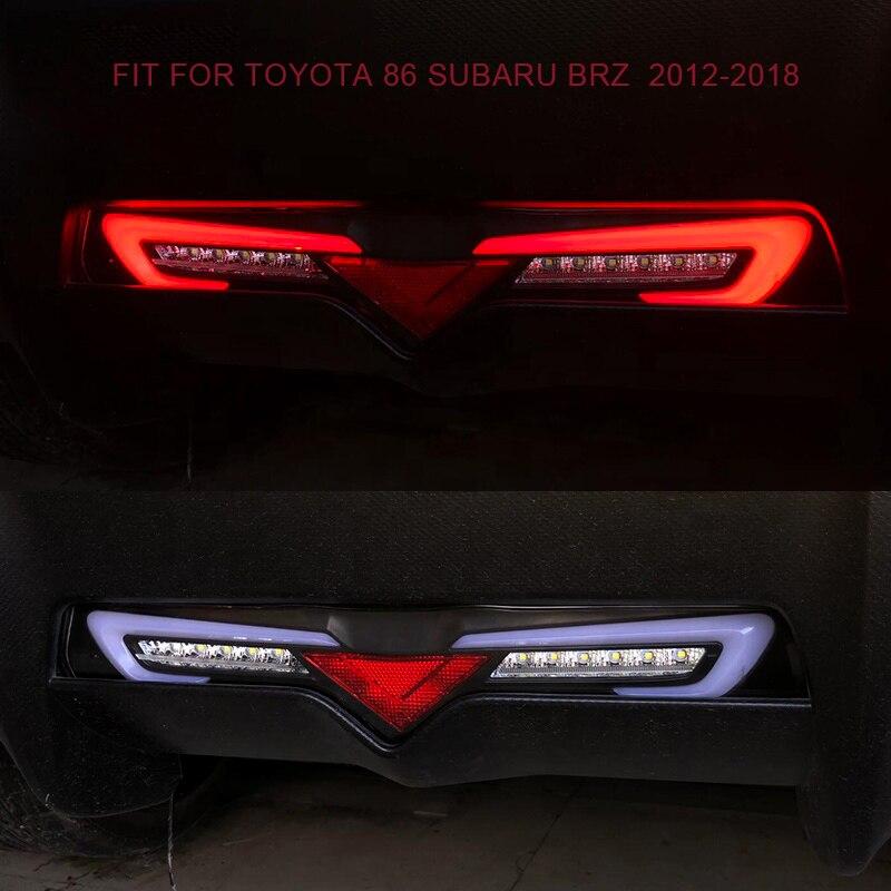 Feu arrière de pare-chocs arrière de LED avec feu de roulement et feu de brouillard arrière et feu de frein pour Toyota 86 pour Subaru BRZ 2012-2018