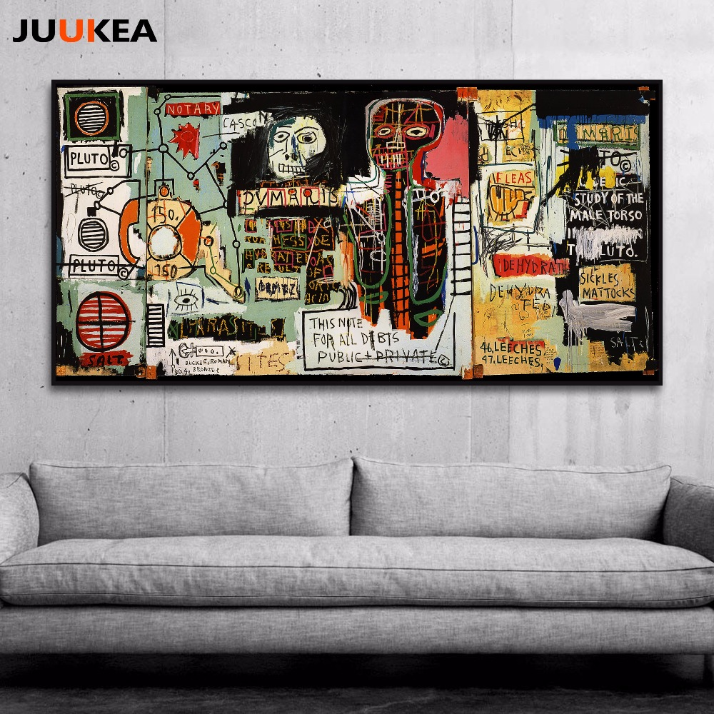 Graffiti art for sale canada - Hipster Jean Michel Basquiat Graffiti Artist Posters Notary Canvas Print Painting Poster Wall Pictures