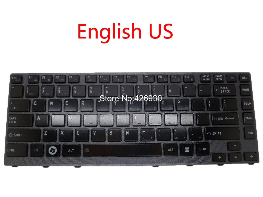 Laptop keyboard For Toshiba For Satellite M640 M645 M650 PK130CL2B00 V114502CS1 English US black Gray Frame