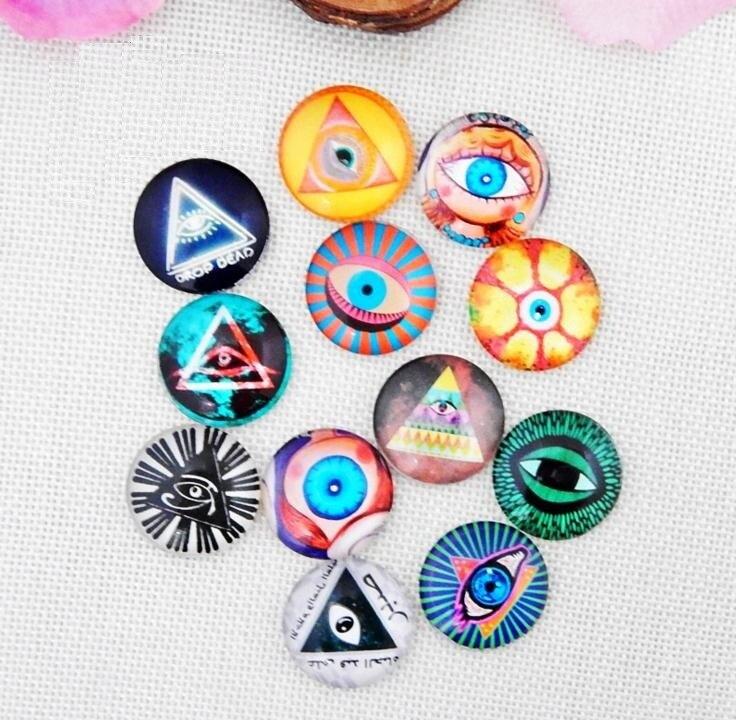 12mm Gem Glass Brads Variety of Animal Eyes POP Jewel Accessories Paper Craft Scrapbook Wedding Supplies Card Valentine Gift DIY
