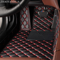 ZHAOYANHUA Car floor mats for Audi A3 S3 foot case heavy duty all weather protection 5D car styling carpet rugs liners (2014 )