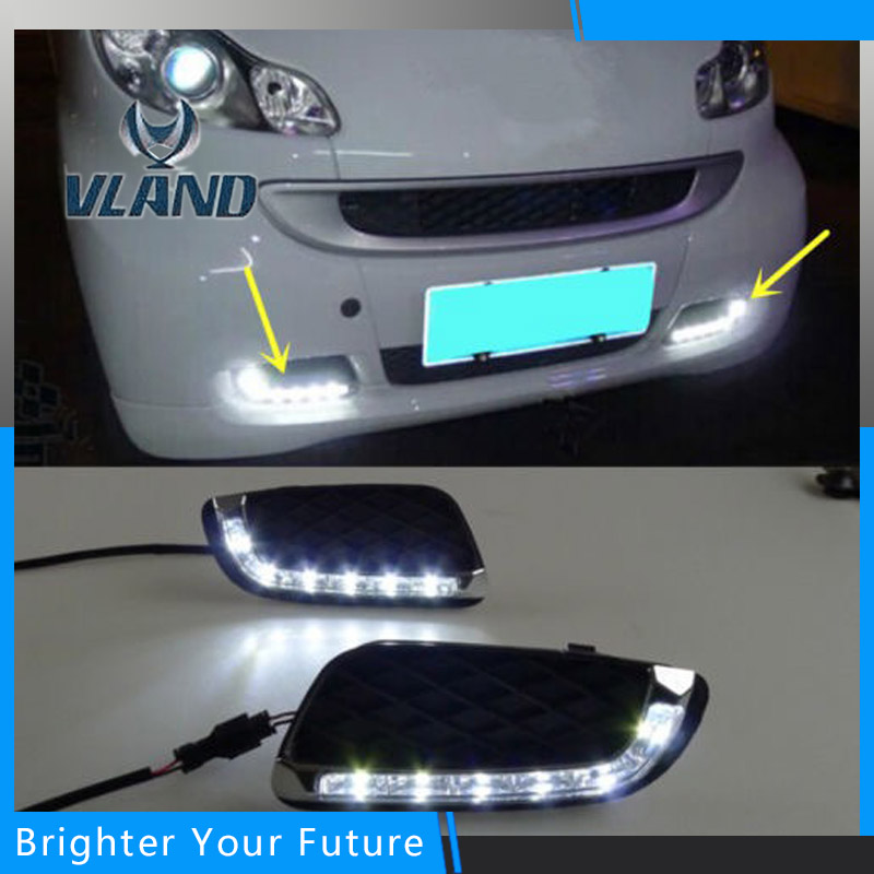 Super Brightness DRL Daytime Running Light Fog Lamp For Mercedes Benz Smart fortwo 2008 2009 2010 2011 auto fuel filter 163 477 0201 163 477 0701 for mercedes benz