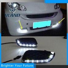 Супер Яркость DRL дневного света противотуманных фар для Mercedes Benz Smart fortwo 2008 2009 2010 2011