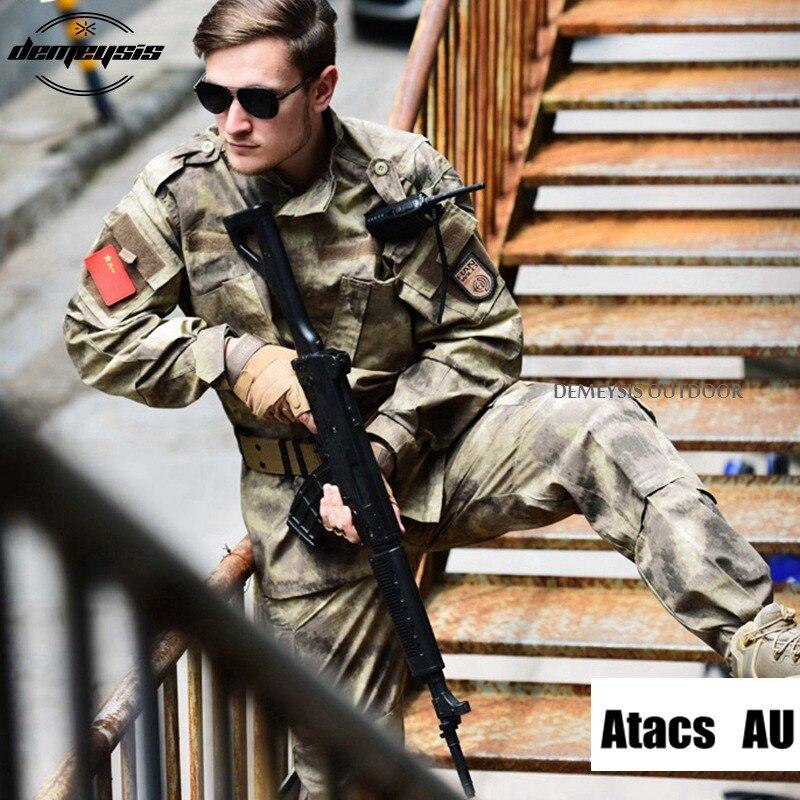 12 Rəngli kamuflyaj hərbi taktiki kostyumlar Ordu Hərbi Uniforma - İdman geyimləri və aksesuarları - Fotoqrafiya 2