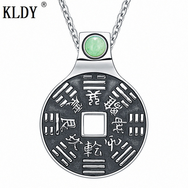 2efaa2881b35e US $4.65 5% OFF|KLDY Green Quartz Crystal Pendants & Necklaces Factory  Direct Punk Men's Charm Jewelry Stainless Steel High Quality coin  pendant-in ...