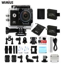 Wimius действие Камера 4 К Wi-Fi спорт шлем CAM Go Водонепроницаемый 40 м Pro Full HD 1080 P/60fps мини видео Камера S Card DVR + Аксессуары