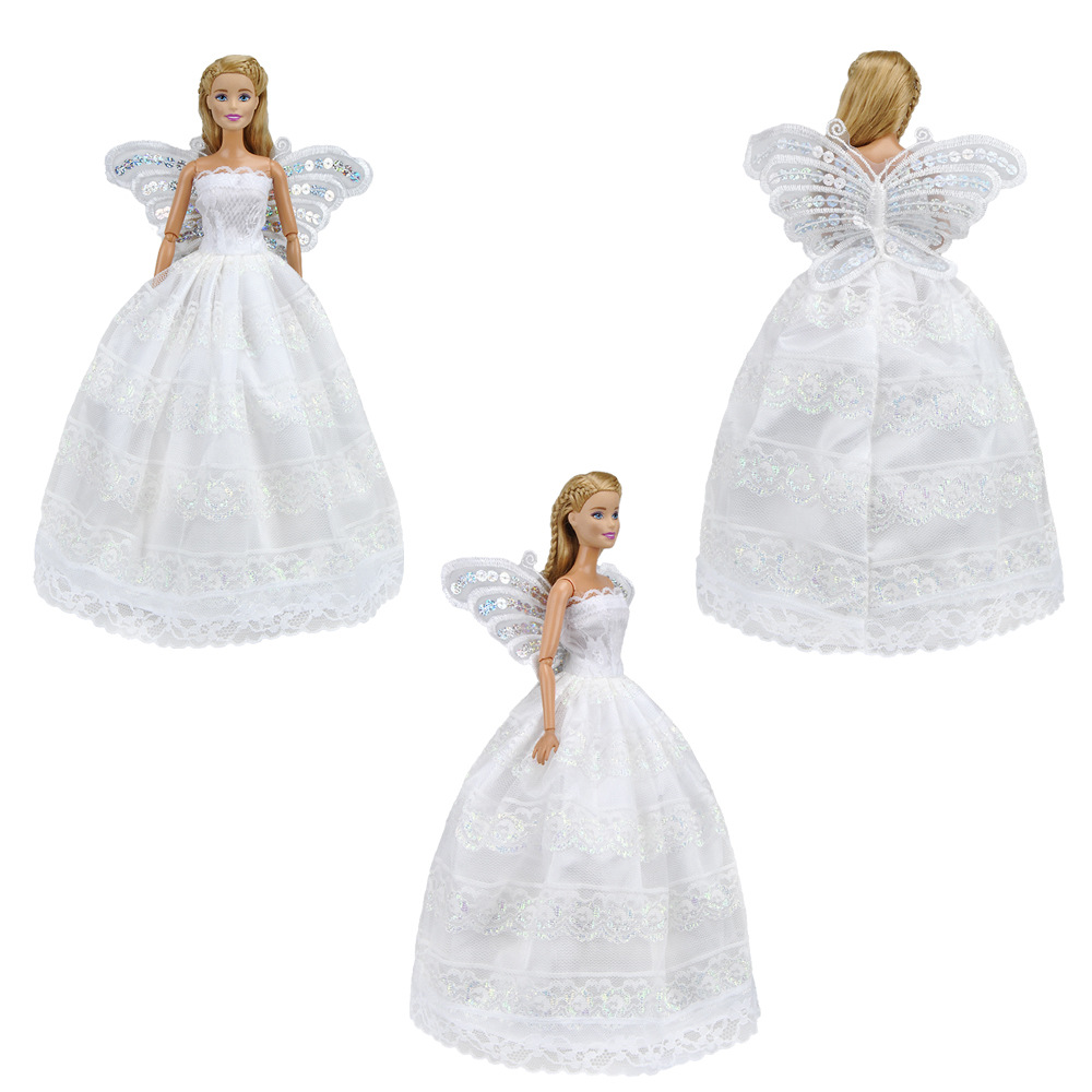 Doll Accessories Butterfly Embroidered Wedding Dress For Beautiful Wear Toy Princess Wardrobe 11inch Dollin Dolls From Toys: Erfly Embroidered Wedding Dress At Reisefeber.org