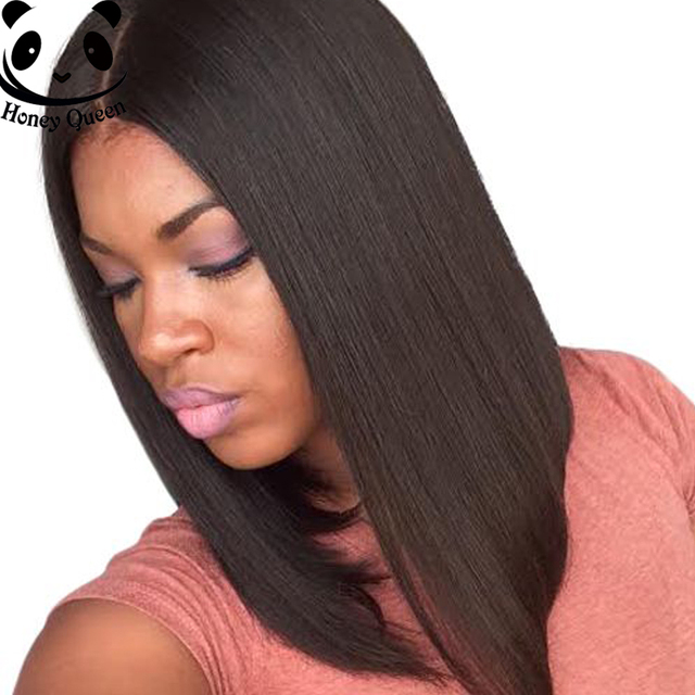 7a Bob Wig Full Lace Human Hair Wigs For Black Women Straight Brazilian Long