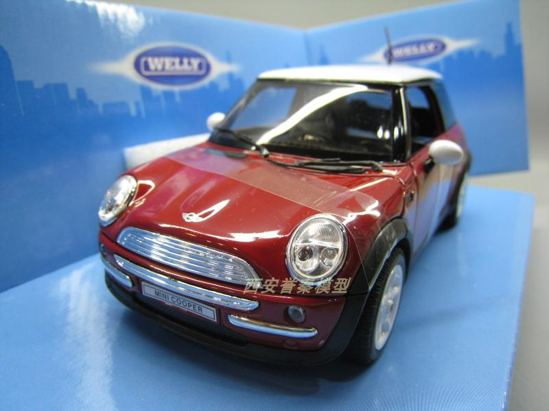 Considerate 2 Color We Lly 1:24 Mini Cooper Alloy Model Car Diecast Metal Toys Birthday Gift For Kids Boy