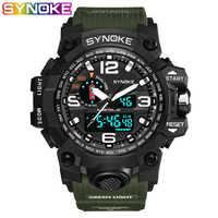 SYNOKE Brand Digital Watch Men G Style Cool Waterproof Shock Sports Military Analog Digital Sports Watches Men
