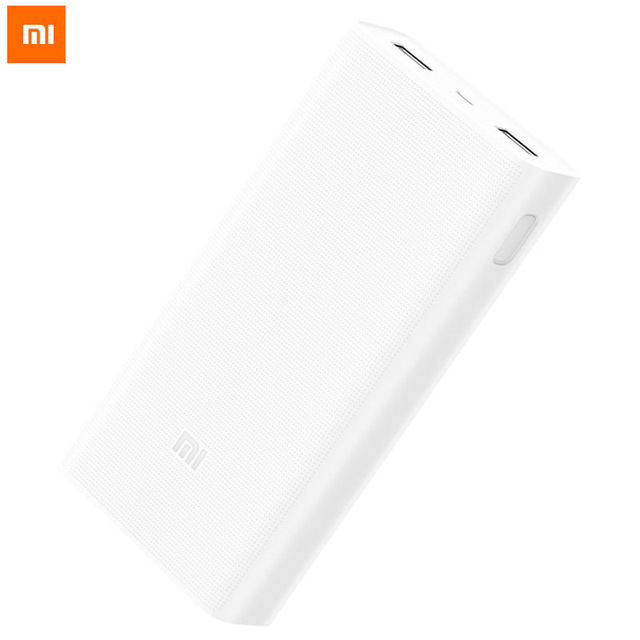 20000mAh Xiaomi Power Bank 2C Quick Charge 3.0 Powerbank Portable External Battery Charger for Mobile Phone Iphone Tablets