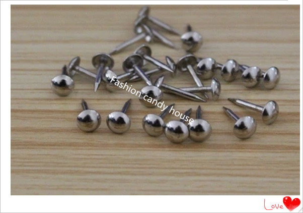 200pcs 6 Mm White Nickel Stainless Steel Bright Silver Decorative