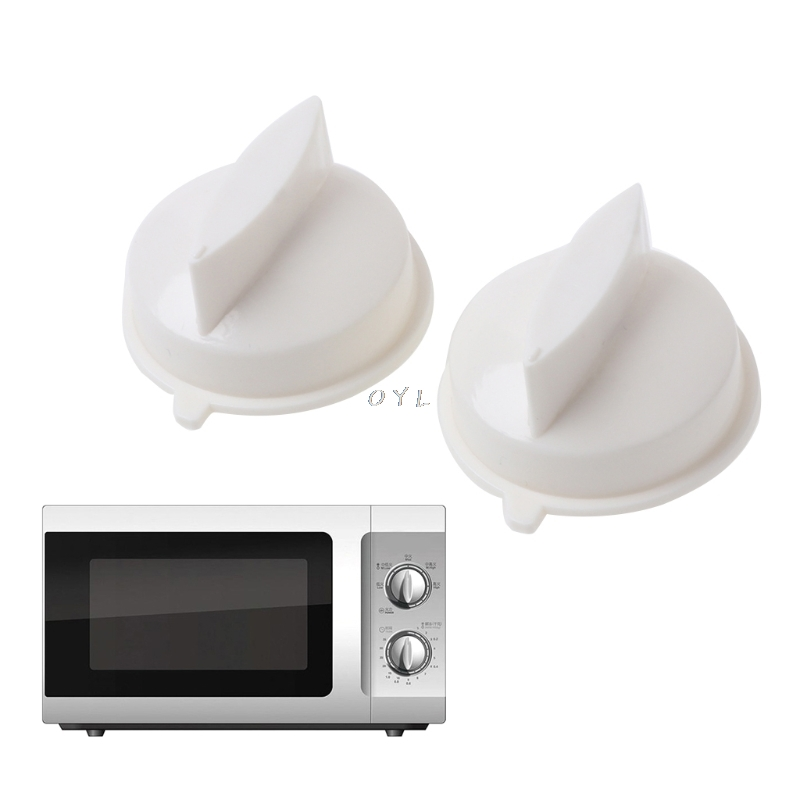 2Pcs Microwave Oven Rotary Knob Timer Plastic Control Switch For Media Universal