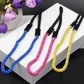 12 unids/lote mujeres multicolor cuerda Trenzada Venda elástico de la vendimia estilo simple Diademas Diademas Headwear Head Band Head Chain
